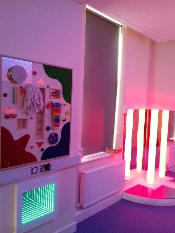 sensory room with infinity panel slim