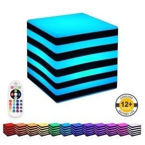 colur change stripe cube