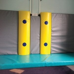 vibrating soft play pillars
