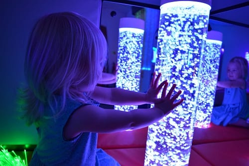 bubble tubes sm sensory room