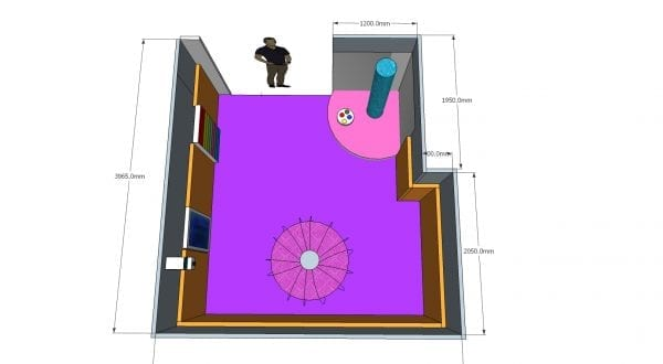padded calming and sensory room