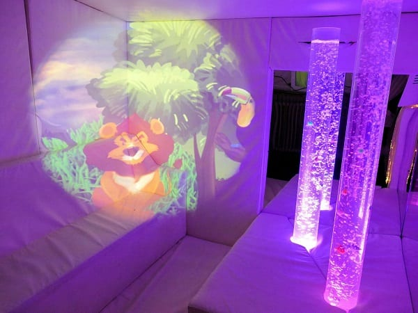 projector in sensory room