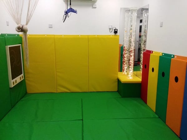 colourful padded room