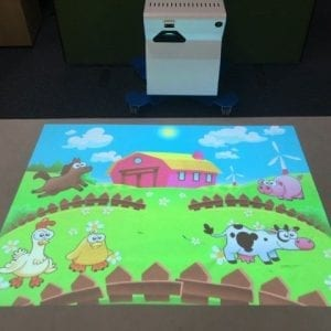 Immersive interactive floor system